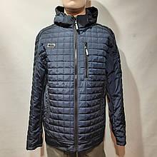 Чоловіча куртка весняна демісезонна класична темно синя норма