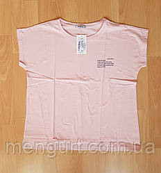 Жіночі футболки з малюнком великі розміри 52-60