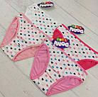 Дитячі трусики для дівчаток 4-5 років сердечки, фото 2