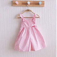 """Дитячі кюлоти """"Emily"""", біло-рожева смужка. Розміри: від 62 до 80"""