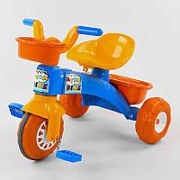 Трехколесный велосипед Pilsan 07-169 (1) пластиковые колеса с прорезиненой накладкой, корзинка, багажник, в