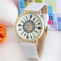 Часы женские GENEVA (ЖЕНЕВА) Plume БЕЛЫЕ, фото 1
