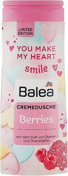 Гель для душу з ароматом малини та граната Balea Berries Creme Dusche 300 мл.