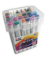 Набор двухсторонних фломастеров/скетч маркеров 24 шт/цветов, AIHAO PM514-24 Sketch marker