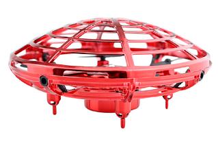 Летающая тарелка НЛО квадрокоптер Красный