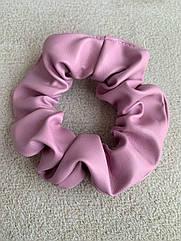 Резинка на волосся жіноча бузкова, резинка з екокожі, лиловая резинка кожаная на волосы