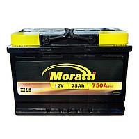 Автомобильный аккумулятор MORATTI 6ct-75a3
