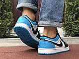 Низькі баскетбольні кросівки Air Jordan  Low 1 Retro  White Black Blue, фото 2