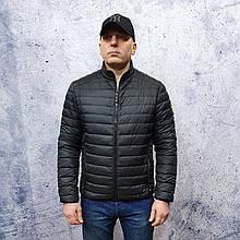 Чоловіча демісезонна куртка Vavalon kd-2009. Чоловіча стьобана куртка чорного кольору.