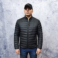 Мужская демисезонная куртка Vavalon kd-2009. Мужская стеганая куртка черного цвета.