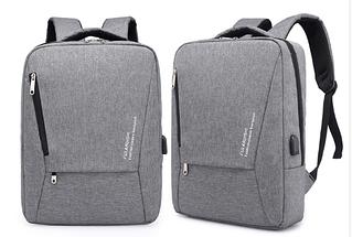Рюкзак Fularuishi городской с USB серый