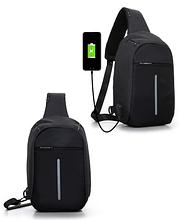 Сумка-рюкзак в стилі Bobby чорна