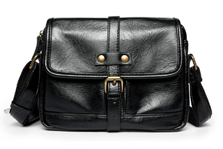 Чоловіча сумка чорна з лямкою