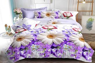 Двуспальный комплект постельного белья евро 200*220 ранфорс  (16598) TM KRISPOL Украина