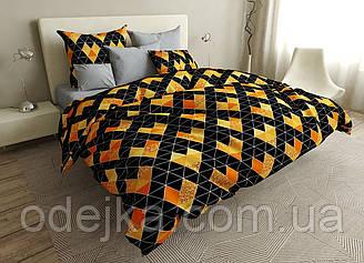 Постельное белье двуспальное на резинке 180*220 хлопок (16654) TM KRISPOL Украина