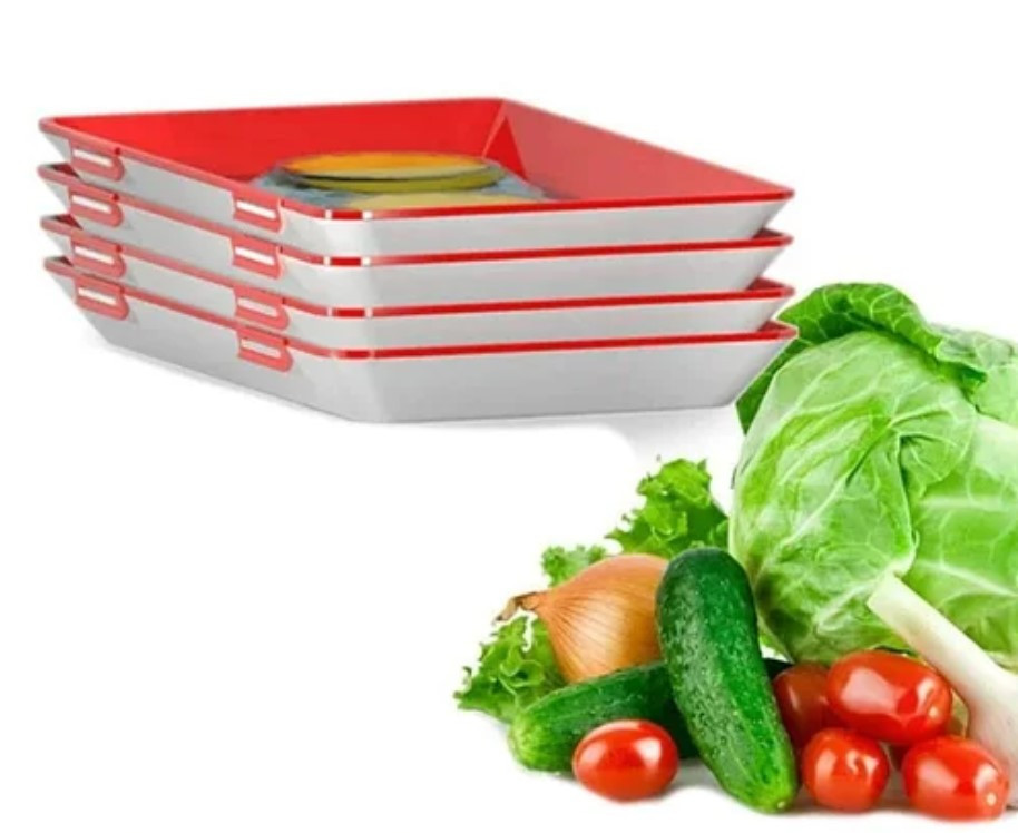 ОПТ Лоток для зберігання харчових продуктів у вакуумній упаковці Clever Tray Багаторазовий вакуумний вакуумний