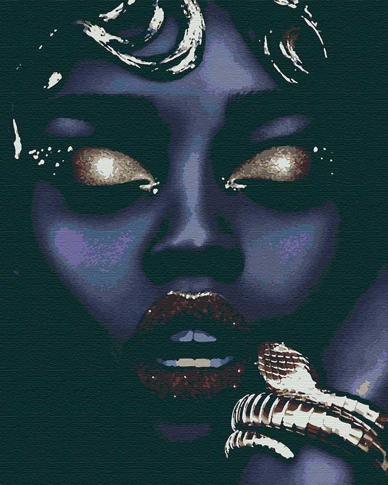 Картина за номерами Чорна перлина, кольоровий полотно на картоні, 40*50 см, без коробки RB