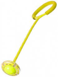 Скакалка на одну ногу - светящаяся нейроскакалка с шаром желтая