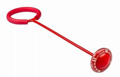 Скакалка на одну ногу - светящаяся нейроскакалка с шаром красная