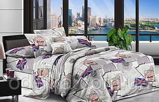 Двуспальный комплект постельного белья евро 200*220 ранфорс  (16471) TM KRISPOL Украина