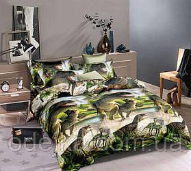 Двуспальный комплект постельного белья евро 200*220 ранфорс  (16472) TM KRISPOL Украина