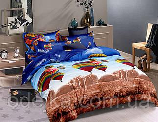 Двуспальный комплект постельного белья евро 200*220 ранфорс  (16473) TM KRISPOL Украина