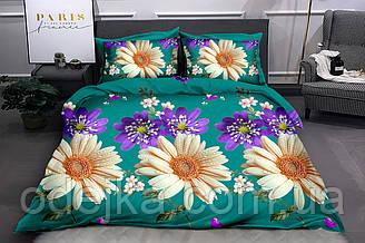 Двуспальный комплект постельного белья евро 200*220 ранфорс  (16474) TM KRISPOL Украина