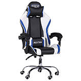 Геймерское кресло VR Racer Dexter Frenzy черный/синий (бесплатная адресная доставка), фото 2