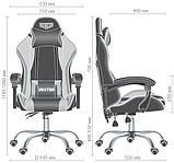 Геймерское кресло VR Racer Dexter Frenzy черный/синий (бесплатная адресная доставка), фото 5