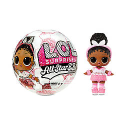 LOL Surprise All-Star B.B.s Sports Series 3 Soccer Team Sparkly Dolls Куклы лол Футболистки