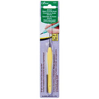 Стальной крючок с мягкой ручкой,Clover,размер 1,5