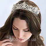 Emily не висока діадема срібло, корона полукруг, фото 5