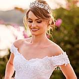 Emily не висока діадема срібло, корона полукруг, фото 9