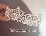 Emily не висока діадема срібло, корона полукруг, фото 4