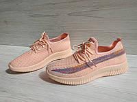 Летние молодежные кроссовки для подростков в розовом цвете, р. 36-41