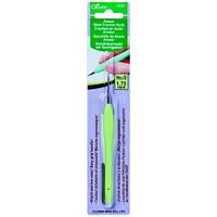 Стальной крючок с мягкой ручкой,Clover,размер 1,75