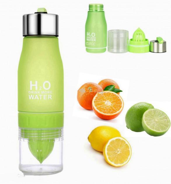 ЗЕЛЕНА пляшка H2O Water Bottle 650 мл № B70