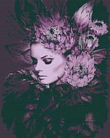 Картина за номерами Зачарованая в стилі Емі Джадд, кольоровий полотно на картоні, 40*50 см, без коробки RB