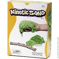 Кинетический песок 2,3 кг зеленый Wabafun  , фото 1