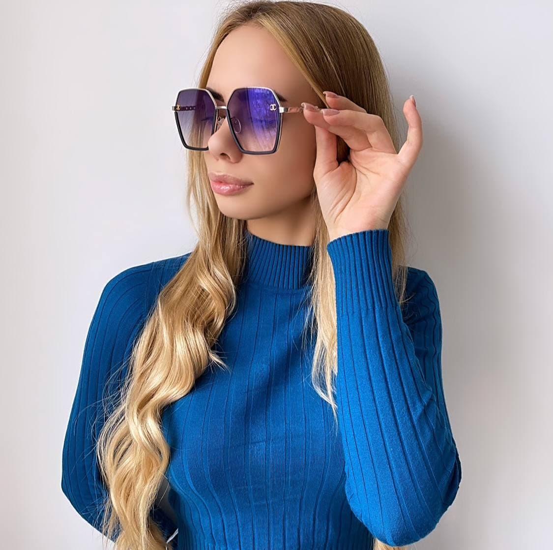 Женские солнцезащитные очки в форме бабочки