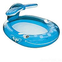 Детский надувной бассейн Intex Кит с фонтаном