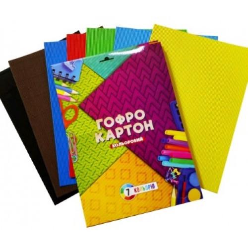Набор Тетрада цветной картон А4 7арк. 7цв. (1/10)