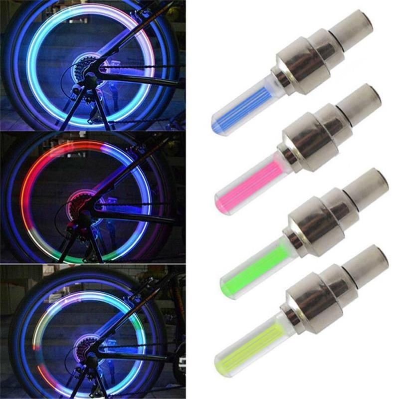 Светодиодные колпачки на колеса (Led насадка на ниппель), белый светят 3 цветами