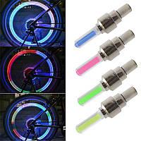 Светодиодные колпачки на колеса (Led насадка на ниппель), белый светят 3 цветами, фото 1