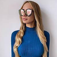 Жіночі дзеркальні сонцезахисні окуляри, фото 1