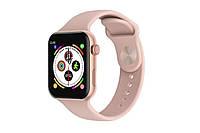 Смарт часы Т500 smart watch.Умные часы t500, В стиле Apple watch с съемным ремешком розовые