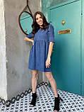 Вельветове плаття із завищеною талією 13-256, фото 5