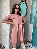 Вельветове плаття із завищеною талією 13-256, фото 7