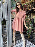 Вельветове плаття із завищеною талією 13-256, фото 4