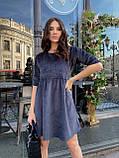 Вельветове плаття із завищеною талією 13-256, фото 3
